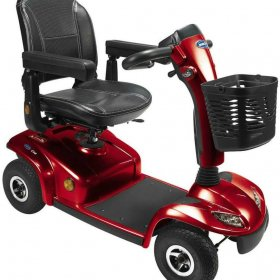 Invacare Leo 4 Wheel red