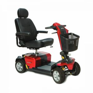 pride lx wheel cts suspension red electric mobility scooter